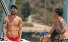Messi, de vacaciones en Ibiza