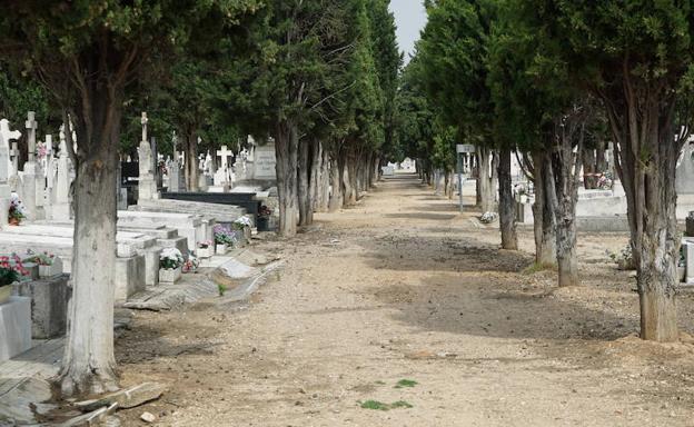 Camino del cementerio de El Carmen, en Valladolid, donde estaban enterrados los 247 cuerpos de represaliados.