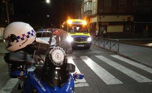 Una niña de cinco años, herida leve por el atropello de una moto en Valladolid