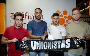 Jorge Hernández, Ayozé, Juanmi y Peli muestran su ilusión por llegar al proyecto de Unionistas