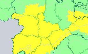 Valladolid permanecerá el viernes en alerta por lluvias y tormentas