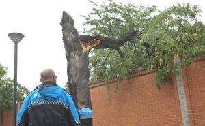 La tormenta deja inundaciones y destrozos en Valladolid