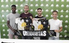 Unai, Admonio, Iván Robles y Adrián Llano muestran su ilusión por el proyecto de Unionistas