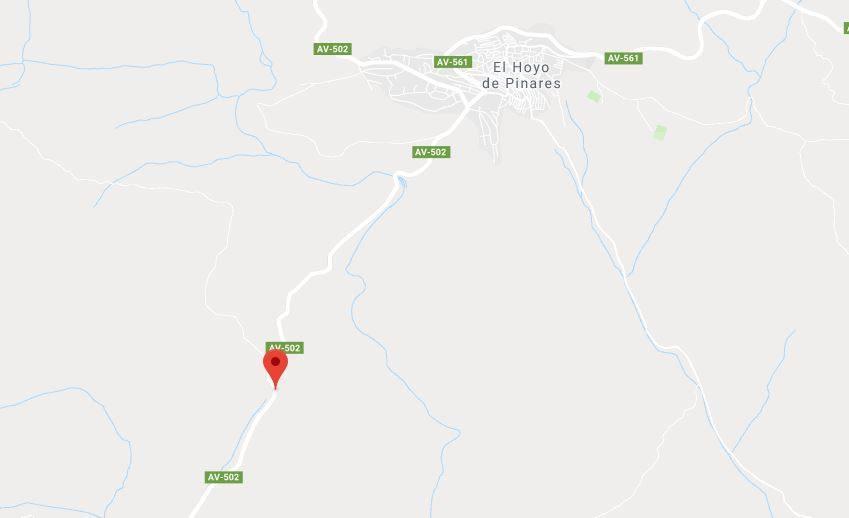 Un motorista herido en Hoyo de Pinares