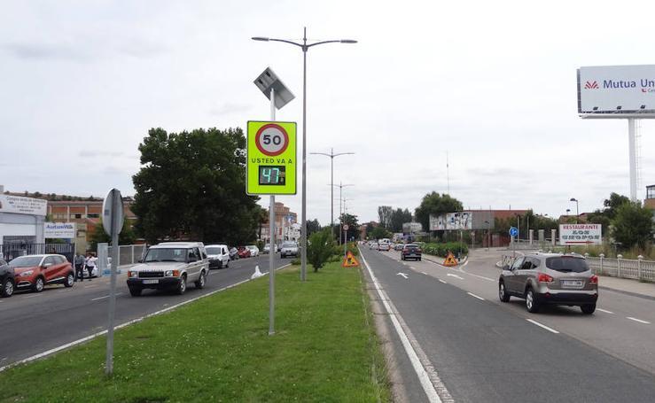 Nuevos avisadores de velocidad instalados en Valladolid