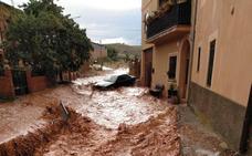 Una tormenta de granizo anega calles y destroza cosechas en Estebanvela
