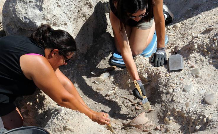 Excavaciones en el yacimiento arqueológico de Pintia