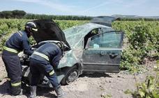 Un herido en un accidente en Valbuena de Duero