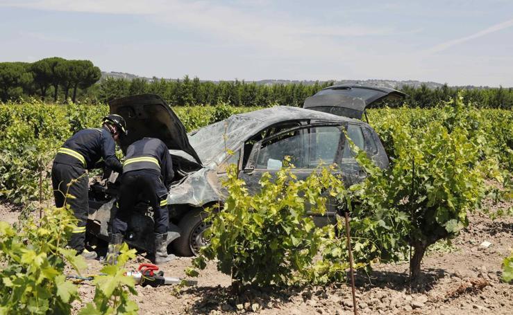 Accidente en la N-122 en el término municipal de Valbuena de Duero