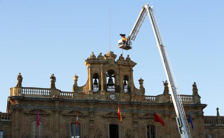 La Mariseca ya luce en el Ayuntamiento de Salamanca