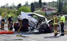 Fallece un vallisoletano en un accidente en la N-111 en Logroño