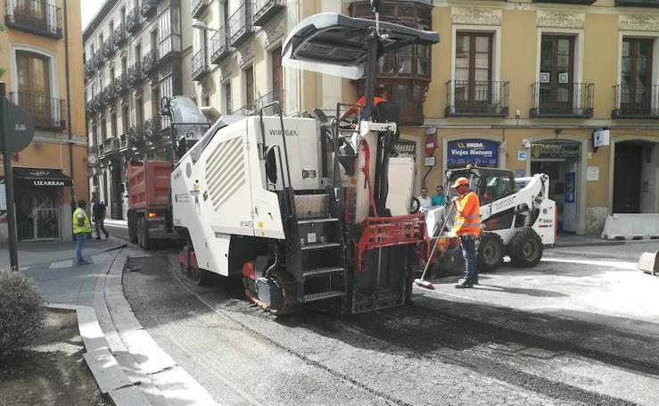 Obras en las calles de Valladolid