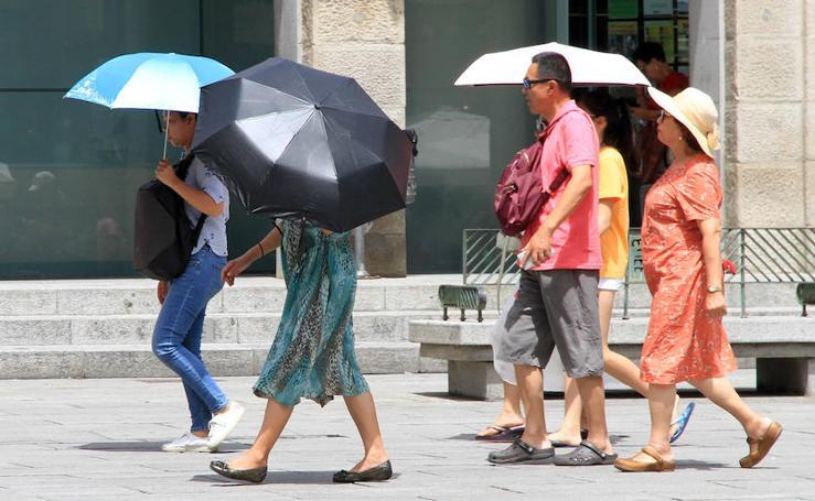 Segundo día de la ola de calor en Segovia