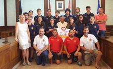 Recepción en Béjar a la selección española de Alpino en Línea