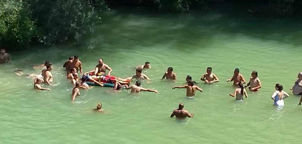 Herido un hombre tras saltar desde la cascada de Pedrosa de Tobalina