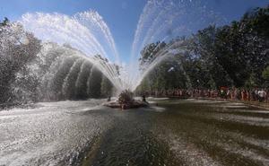 Las fuentes de La Granja funcionarán en agosto menos días por las fugas de agua en la red