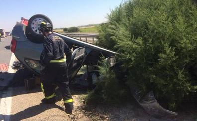 Dos heridos en un accidente por una salida de vía a la altura de la localidad vallisoletana de Geria