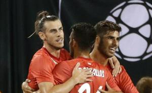 Bale y Asensio golean en una gran primera parte del Madrid ante la Roma