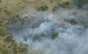 Un incendio en la localidad abulense de Cebreros quema 900 metros cuadrados de terreno agrícola