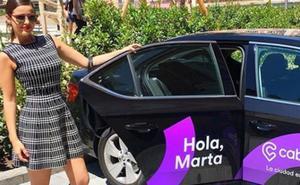 Marta Torné, posado polémico con Cabify