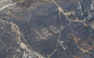 Un incendio desvela un mensaje oculto de la Segunda Guerra Mundial