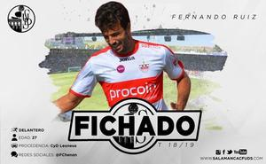 El CF Salmantino hace oficial la llegada de Fer Ruiz