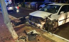 Un motorista, herido tras distraerse con un accidente y colisionar contra otro vehículo en Valladolid