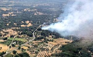 Controlado un incendio con numerosos medios aéreos en Candeleda