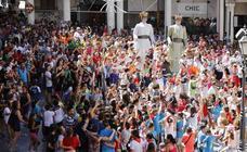 Chupinazo, gigantes y cabezudos y subasta de balcones en Peñafiel