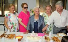 Homenaje a la centenaria Juana Blázquez en Cordovilla la Real