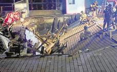 Una joven de Traspinedo fue testigo directo del hundimiento del paseo marítimo en Vigo