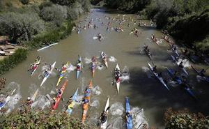 Bouzán y Llamedo vuelan sobre las aguas del Pisuerga