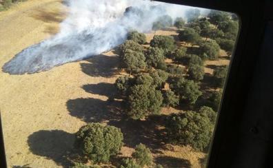 Extinguido el incendio declarado ayer en Morasverdes