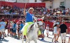Fiestas Vilvestre, rotura de cántaros y cintas a lomos de burros