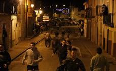 Encierro del viernes por la noche en Peñafiel