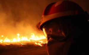La UME registra la intervención más baja en incendios de los últimos cuatro años