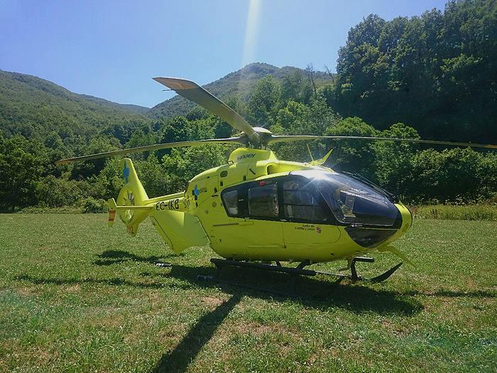 Dos heridos en un accidente en San Cristóbal de la Vega