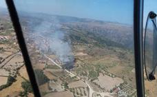 Controlado un incendio en Mieza