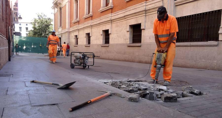Patrimonio prevé autorizar este jueves la obra de los accesos al 'parking' de la Plaza Mayor de Valladolid