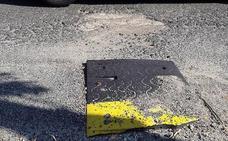 Vecinos de Los Ángeles de San Rafael exigen la reconstrucción de los reductores de velocidad