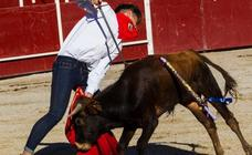 Los animalistas denuncian la «terrible tortura» en la becerrada de San Rafael