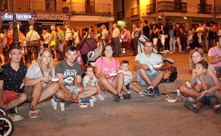 Merienda popular en las fiestas de Peñaranda de Bracamonte