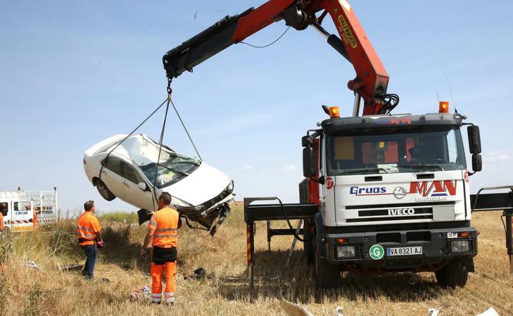 Accidente en la carretera entre Zaratán y Wamba
