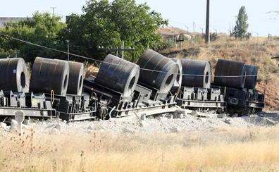 Descarrila en Sarracín un tren de mercancías en la línea del Directo entre Burgos y Aranda
