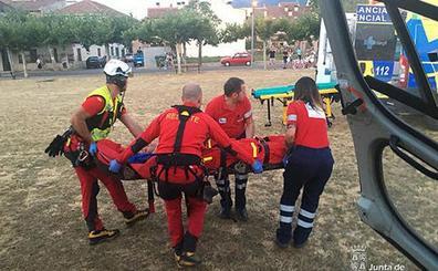La piloto de un parapente resulta herida al caer tras despegar en Arcones