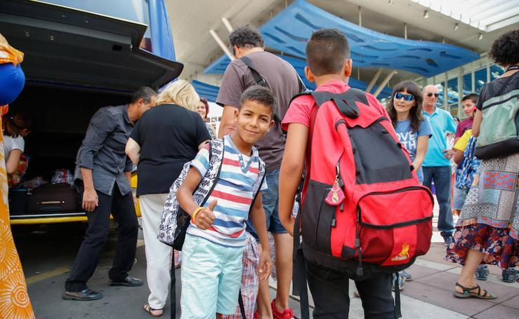 Último grupo de niños saharauis del programa 'Vacaciones en Paz' en Salamanca