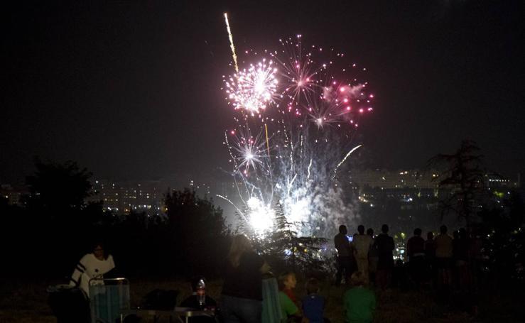 Segunda sesión de fuegos artificiales de las fiestas de Valladolid