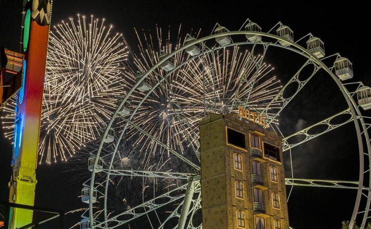 Tercera sesión de fuegos artificiales de las fiestas de Valladolid