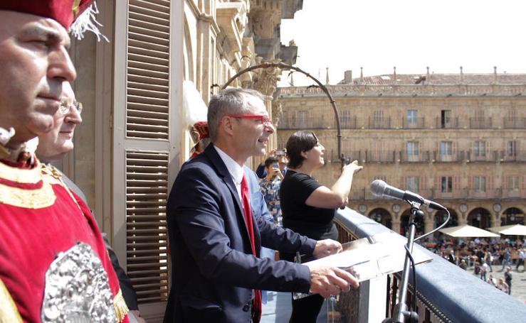 El pregón del rector de la Usal pone en marcha las fiestas de Salamanca