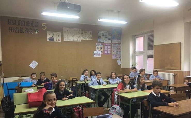 Primer día de colegio en el Rafaela María de Valladolid